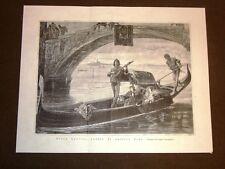 Esposizione d'arte di Napoli del 1877 Sulla laguna Venezia Quadro Antonio Zona