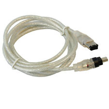 HQRP FireWire 4-6 Pin Cable for Canon ZR85 ZR850 ZR90 ZR900 ZR930 ZR950