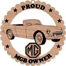 MGB Roadster Red Alder Wood Ornament Laser Engraved