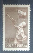 POLAND STAMPS MNH Fi621 Sc551 Mi759 - Youth Rally champions, 1952, clean