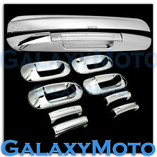 03-12 Ford Expedition Chrome 4 Door Handle+Top+Lower Liftgate Tailgate Cover