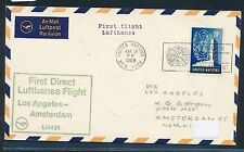 62358) LH FF Los Angeles USA - Amsterdam 3.4.69,Brief ab UNO New York