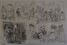 Harper's Weekly, 1876. The Centennial, Turkish Cafe. Wood Engraving.