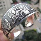 FUNKY Elephant engraved Tibetan Silver Totem Bangle/Cuff/Bracelet Jewelry Gift