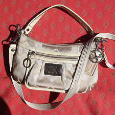 Coach Poppy Signature Sateen Crossbody Pouch in Ivory 14562