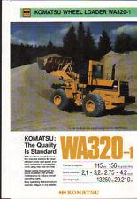 """Komatsu """"WA320-1"""" Wheel Tractor Loader Shovel Brochure Leaflet"""