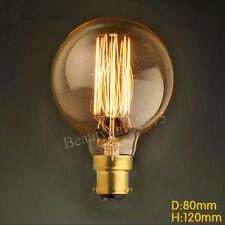 Bayonet Cap B22 Edison Bulb Vintage Filament Incandescent Globe G80 Light Lamp
