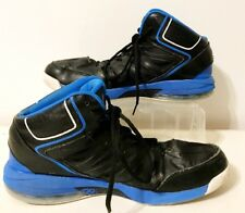 AND1 Men's Hi Top Black/Blue Basketball Shoes Size 11.5