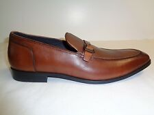 Kenneth Cole Size 12 M CUT LOOSE Cognac Brown Leather Loafers New Mens Shoes