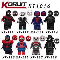Spielzeug Super Hero Into the Spider-Verse Toys Baukästen Mini Figur 8PCS