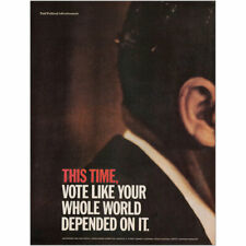 1968 Nixon Agnew Campaign: Vole Like Your Whole World Vintage Print Ad