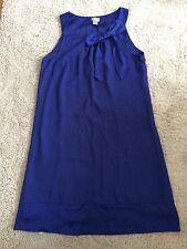 H&M Blue Shift Dress With Bow, UK 10