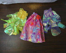 Lot of 3 Disney Princess Barbie doll fantasy skirts pink yellow