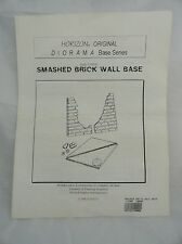 Horizon Model Kit Diorama Smashed Brick Wall Base 1/6 or 1/12 Scale - You Decide