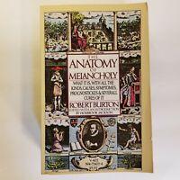 The Anatomy of Melancholy by Robert Burton - 1977 Vintage Paperback