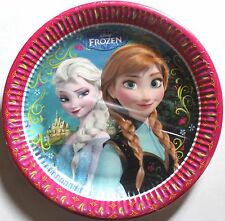 Disney Frozen party paper disposable plates, 8 pack, 33 cm, Birthday, brand new