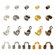 Box 5-Color Metal Crimp Ends Set Crimp Beads Knot Covers Bead Tips Wire Guardian