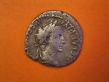 "Imperial Romano plata denario de tiberio - ""Tributo Centavo' - Reino Unido encontrado"