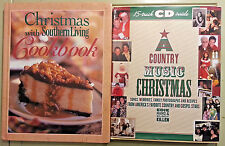 """Set of 2 """"CHRISTMAS WITH SOUTHERN LIVING Cookbook 1997"""" & """"A County Music Xmas"""""""