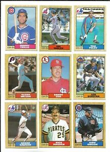 1987 OPC Baseball:Lot of 9 different