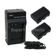 2 Battery + Charger Combo Kit for Canon LP-E6 EOS 6D 7D 7D Mark II 60D 70D 80D