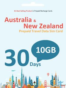 30 days 10GB Vodafone Aust&NZ Prepaid data SIM card 4G/LTE Anonymous Activation