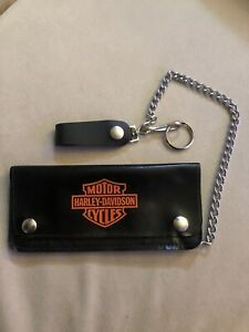 Harley-Davidson Men's Black biker leather wallet