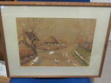 Original Watercolour of Church Farm Cottages Hawstead Suffolk by Mrs V Samson 47