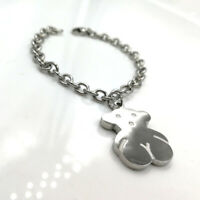 Titanium Steel Bear Bracelet Double-sided Texture O-chain Bracelet New