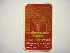 VECCHIO ADESIVO RADIO / Old Sticker _ RADIO STUDIO MILANO (cm 7 x 12)