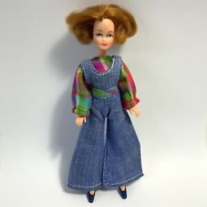 Vintage 1970's Palitoy Pippa Doll Penny Red Hair + Clothes Overalls Shoes Top