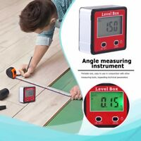 LCD Digital Protractor Angle Meter Finder Gauge Level Box Inclinometer Magnetic