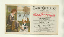 UNUSED MENTHOLATUM FOR CHAPS & CHILBLAINS RELIEF ADVERTISING INK BLOTTER