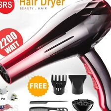 SRS Professional 2200W High Powerful Strong Wind Ionic Travel Hair Dryer 8080