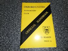 OXFORD UNITED SUPPORTERS CLUB : OFFICIAL HANDBOOK 1971/2     *****FREE POST*****
