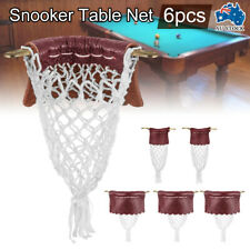New Leather Snooker Table Net Pockets Set Replacement Billiard Pool Ball Bags