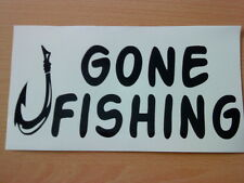 gone fishing hook vinyl car boat van sticker shop sign wallart fish bait tackle