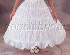 Cotton 4-Hoop Bone Renaissance Medieval Costume Petticoat Crinoline Skirt Slip