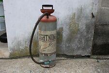 Vintage Metal Lightning Compressed Air Sprayer Can