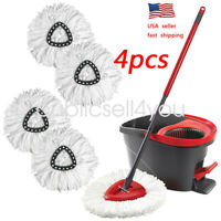 4Pc Replacement Head Easy Home Cleaning Mopping Wring Spin Mop Refill O-Cedar US