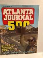 NASCAR 1981 ATLANTA JOURNAL 500 PROGRAM 22ND ANNUAL NOV 8 1981