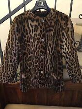 Giacca Vintage Pelliccia Leopardo Atelier Matti  tg. 42 perfetta