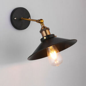 American Retro Industrial Style Light Fixture E27/E26 Lamp Bulb Wall Sconce Cafe