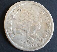 30 Kreuzer 1/2 Gulden 1734 Karl Albrecht Bayern alte antike Silber Münze