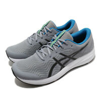 Asics Patriot 12 Grey Black Blue White Men Running Shoes Sneakers 1011A823-021