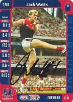 ✺Signed✺ 2015 MELBOURNE DEMONS AFL Card JACK WATTS