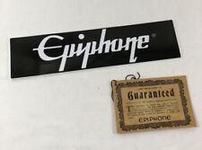 2021 Epiphone Les Paul Case Candy Bumper Sticker Guarantee Card