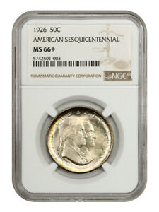 1926 Sesquicentennial 50c NGC MS66+ - Silver Classic Commemorative
