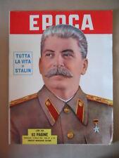 EPOCA n°127 1953  Tutta la vita di Stalin - Memorie di Edvige Mussolini [G771]