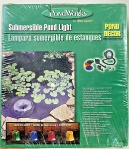 New Little Giant PondWorks Pond Submersible Light Model LVL-PW - sealed box